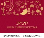 happy chinese new year. the... | Shutterstock .eps vector #1583206948