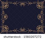 art deco frame with snowflakes. ... | Shutterstock .eps vector #1583207272
