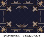 art deco frame with snowflakes. ... | Shutterstock .eps vector #1583207275