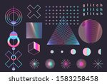 set of rainbow colored... | Shutterstock .eps vector #1583258458