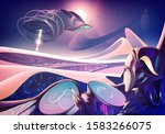 an imagery illustration of a... | Shutterstock .eps vector #1583266075