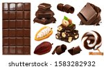 realistic chocolate. chocolate...   Shutterstock .eps vector #1583282932