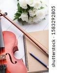close up shot violin orchestra... | Shutterstock . vector #1583292805
