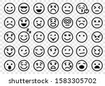 Emotion Icons. Set Of Round...