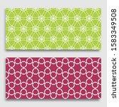 seamless horizontal borders... | Shutterstock .eps vector #1583349508