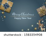 merry christmas and happy new... | Shutterstock .eps vector #1583354908