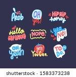 modern phrases letterings set.... | Shutterstock .eps vector #1583373238