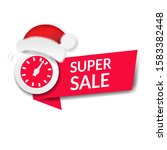 christmas sale poster with... | Shutterstock . vector #1583382448