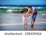 happy family father and baby... | Shutterstock . vector #158339426