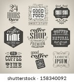 retro bakery labels and... | Shutterstock .eps vector #158340092