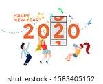 people celebrate new year 2020  ...