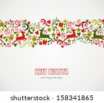 merry christmas decorations... | Shutterstock . vector #158341865