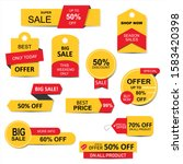 stickers  price tag  banner ... | Shutterstock .eps vector #1583420398