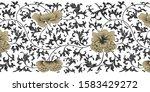 japanese black  gold and white... | Shutterstock .eps vector #1583429272