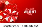 happy valentine's day holiday... | Shutterstock .eps vector #1583432455