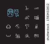 industry icons set. jack plane...
