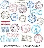 different stamps frames. set of ...