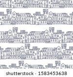 seamless vector border pattern... | Shutterstock .eps vector #1583453638