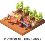 Vector Isometric Winemaker At...