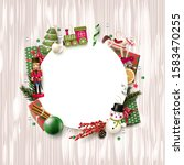 christmas background with... | Shutterstock .eps vector #1583470255