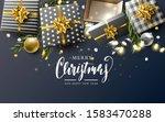 luxury christmas header or... | Shutterstock .eps vector #1583470288