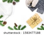 christmas winter composition.... | Shutterstock . vector #1583477188