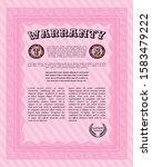 pink retro vintage warranty...   Shutterstock .eps vector #1583479222