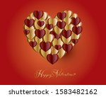 hearts background of valentines ...   Shutterstock .eps vector #1583482162