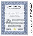 blue diploma or certificate... | Shutterstock .eps vector #1583496448