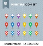 colorful travel pointer icon... | Shutterstock . vector #158350622