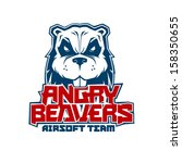 angry beavers vector... | Shutterstock .eps vector #158350655