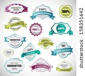badges and labels set  ... | Shutterstock .eps vector #158351642