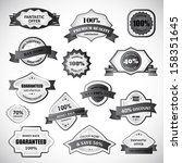 badges and labels set  ... | Shutterstock .eps vector #158351645