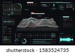 control center 3d terrain drone ... | Shutterstock .eps vector #1583524735