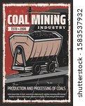 coal mining industry  retro... | Shutterstock .eps vector #1583537932