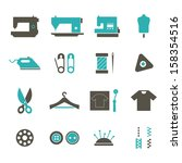 sewing icon   color | Shutterstock .eps vector #158354516