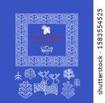 blue greeting christmas card... | Shutterstock .eps vector #1583554525
