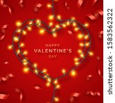 valentines day background with... | Shutterstock .eps vector #1583562322