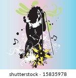illustration of a singer | Shutterstock .eps vector #15835978