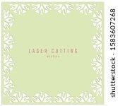 laser cutting wedding card.... | Shutterstock .eps vector #1583607268