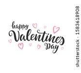 happy valentine's day script... | Shutterstock .eps vector #1583618908