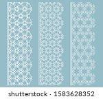 vector set of line borders with ... | Shutterstock .eps vector #1583628352