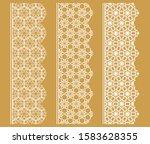 vector set of line borders with ... | Shutterstock .eps vector #1583628355