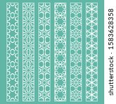 vector set of line borders with ... | Shutterstock .eps vector #1583628358