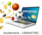 online sports betting concept... | Shutterstock .eps vector #1583647582