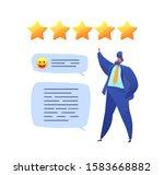 customer feedback concept with... | Shutterstock .eps vector #1583668882