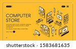computer store isometric... | Shutterstock .eps vector #1583681635