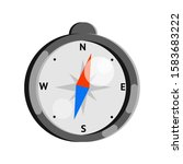 compass in flat style....