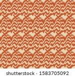 ikat border. geometric folk... | Shutterstock .eps vector #1583705092