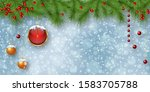 christmas and new year vector... | Shutterstock .eps vector #1583705788